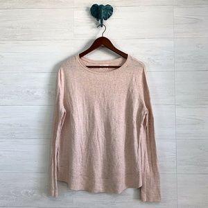 Lou & Grey Blush Pink Wool Blend Knit Top